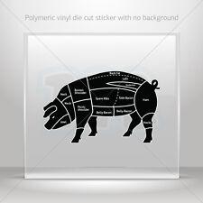Stickers Sticker Pig Meat Pork Chart Car Motorbike Bike Garage st5 X2389