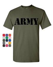 ARMY T-Shirt Military Veteran POW MIA Patriotic Veteran's Day Mens Tee Shirt