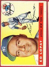1955 TOPPS BB #109 ED LOPAT/YANKEES EX