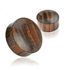 PAIR (2) Solid Brown Sono Wood EAR PLUGS Organic Saddle PIERCING GAUGES Earrings