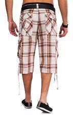 Uomo Cargo Shorts WALN plaid Bermuda pantaloni corti cargo plaid cotone