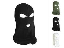 Mil-Tec Balaclava Baumwolle 3-Loch Sturmhaube Maske Skimaske Schwarz Oliv Weiß