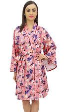 Bimba Kimono Robe Courte Robe De Mariée En Popeline De Coton À Fleurs Imprimées