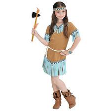 INDIANERIN KOSTÜM KINDER Karneval Fasching Indianer Häuptling Kleid Mädchen 0665
