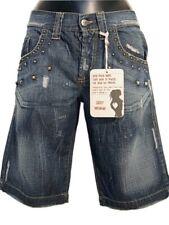 Jeans Shorts donna SEXY WOMAN Tg. M L Denim Pelle Bermuda Vintage Original New