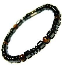 "Magnetic hematite tiger eye bracelet black 8"""
