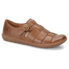 NIB Born Marit Fisherman Sandal Flat Shoe Loafer Light Brown Womens Sz 6 - 10