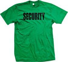 Security Black Text Design Costume Funny Gag Gift Humor Joke Mens T-shirt