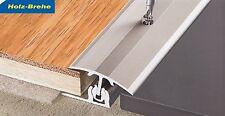 Übergangs- Anpassungs- Abschlussprofile eloxiert Edelstahl Schienen -24 mm h LHD