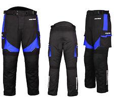 Waterproof Motorbike Motorcycle Trouser Pent Gears CE Armoured Lined - Blue