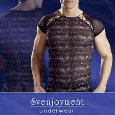 Particolare maglia uomo con tessuto stampato pelle dei rettili Manica corta