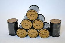 1,3 oder 5 Spulen Nähgarn Extra-Stark 100 Meter schwarz Stärke Ne 16/3 Nähgarn