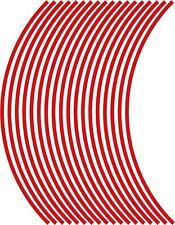5mm cerchione nastro striatura strisce adesivi ROSSO 38 pezzi/9 per ruota)