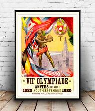 Juegos Olímpicos 1920: Juegos Mundiales Vintage anuncio, cartel reproducción.
