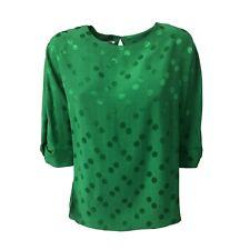 BIANCOGHIACCIO camicia donna verde manica 3/4 mod CROAZIA MADE IN ITALY