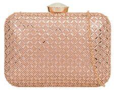 Vintage Elegant Ladies Gemstones Hard Case Clutch Bag Diamante Party Wedding