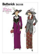 Butterick SEWING PATTERN B6108 Misses Retro 1912 Costume Jacket,Bib & Skirt