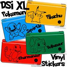 POKEMON STICKER pour Nintendo DSi XL couvercle-choisir votre couleur et pokemon vinyle!