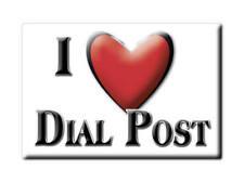 SOUVENIR UK - ENGLAND MAGNET UNITED KINGDOM I LOVE DIAL POST (WEST SUSSEX)