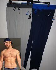 NWT NAUTICA Mens Pajamas Lounge Pants S L XL Black Blue Gray