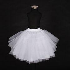 New Flower Girl Bridesmaid 4 layer White Underskirt Petticoat One Size