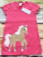 Gymboree Dress 18-24 2T 3T 5T Unicorn University Pink Sweater Dress NWT