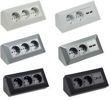 3fach - 2fach Steckdosenblock 2x USB Mehrfachstecker Steckdosenleiste Aufbau