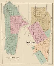 Old City Map - Wabasha, Lake City Minnesota - Andreas 1874 - 23 x 28.20