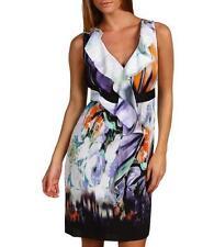 NWT Elie Tahari Silk  Patrice Dress Berry Blue Silk 6 $398