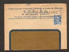 """PARIS (XVI°) APPLICATION INDUSTRIELLE & RURALE ELECTRICITE """"S.F.A.I.R.E."""" 1951"""