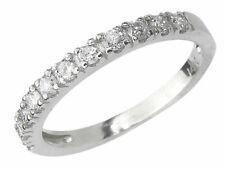 Diamond Wedding Engagement Ring Band 14K White Gold 0.40 Ct Anniversary Guard