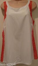 Marks & Spencer Sleeveless Ivory Orange lace Top Blouse(NEW) UK Size 16-£25.00