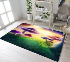 Colorful Mushrooms Area Rugs Bedroom Floor Door Mat Cozy Children Carpet Rug