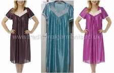 Ladies polyester nightdress short sleeve womens nightie lightweight 10-20 summer