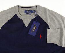 Polo Ralph Lauren Pima Cotton Colorblock LS Crewneck Sweater Raglan Sleeves NWT