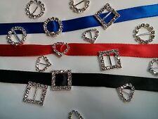 Rhinestone Buckle Ribbon Slider set of 6 for wedding or party napkin decoration