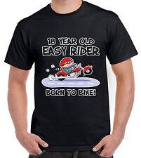 18 YEAR OLD EASY RIDER 18TH BIRTHDAY T-SHIRT - Gift Present Biker Motorbike Bike