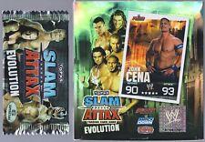 Lot de 3 Boosters WWE Catch Slam Attax EVOLUTION Neufs