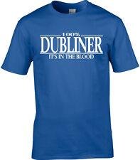 Dubliner Mens T-Shirt - 100% Dubliner It's In The Blood Ireland Dublin Gift