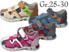 Jungen Mädchen Sandalen NEU innen Leder Outdoor Sandalette Trekking @2452