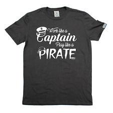 Sailing T-Shirt Funny Novelty Mens tee TShirt - Work Like A Captain Play Like A