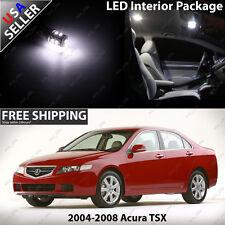 Acura TSX Sedan Ultra White LED SMD 12V Interior Light Bulb Package Set Kit