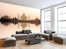 Taj Mahal India Wallpaper Woven Self-Adhesive Wall Mural Art Decal M176