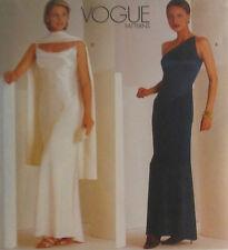 1997 New Tom & Linda Platt Gown Scarf Pattern Choice 8-16 Vogue 2042 OOP
