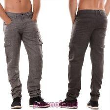 pantalones de hombre cargo bolsillos lado casual algodón tiro caído nuevo H6420