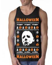 650 Halloween Tank Top Ugly christmas sweater slasher costume horror movie new