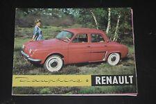 Ancien dépliant Renault Dauphine - catalogue - brochure - publicité - prospectus