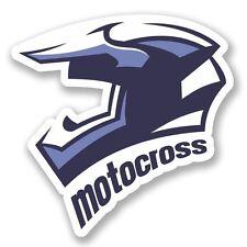 2 X Motocross Pegatina de vinilo Laptop Equipaje de Viaje Coche #5250