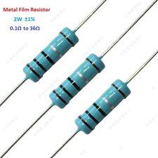 2W Power 1% Tolerance Metal Film Resistor 0.1 Ohm to 36 Ohm