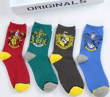 Harry Potter Gryffindor Ravenclaw Hufflepuff Slytherin Socks Cosplay Cotton New